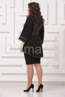 Комбинированная кожаная куртка LW