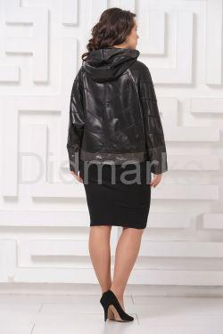 Кожаная куртка летучая мышь черного цвета