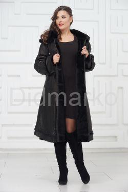 Нарядное пальто из овчины