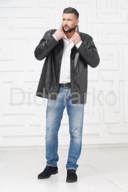 Мужская кожаная куртка на меху