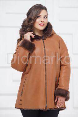 Куртка из овчины с капюшоном