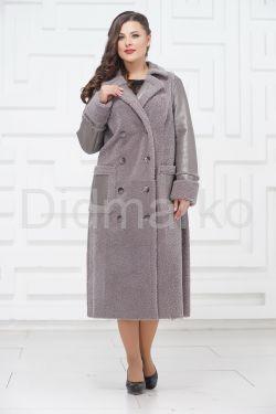 Комбинированное пальто из меха керли