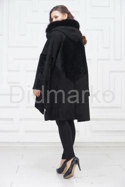 Женское пальто из овчины в стиле бохо