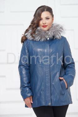 Утепленная кожаная куртка больших размеров