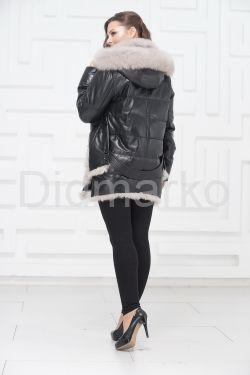 Стильный кожаный пуховик. Хит сезона 2018-2019