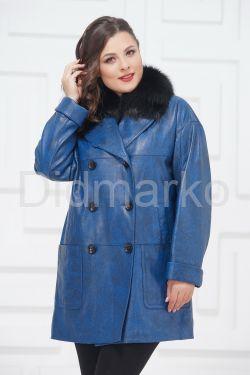 Двубортная кожаная куртка