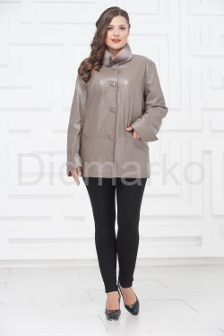 Демисезонные кожаные куртки больших размеров