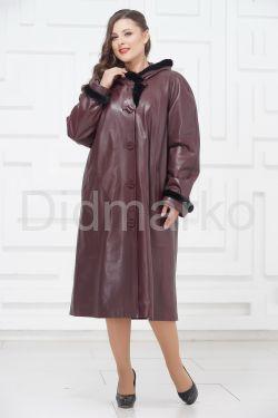 Утепленное кожаное пальто для милых дам