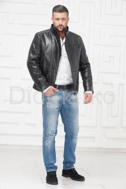 Мужская кожаная куртка на меху 2020