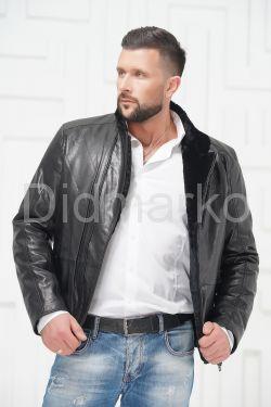 Мужская кожаная куртка на меху 2019