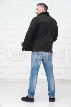 Короткая мужская замшевая дубленка
