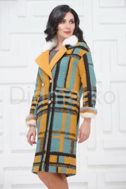 Буклированное пальто в стиле Кензо