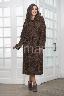 Леопардовое пальто из нерпы