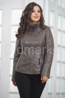 Классическая кожаная куртка для женщин