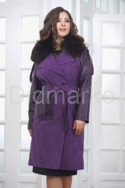 Итальянское пальто фиолетового цвета