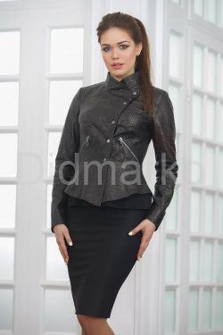 Молодежная кожаная куртка под питона Весна 2019