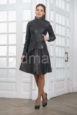 Стильная молодежная кожаная куртка косуха 2019