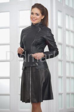 Модная женская куртка косуха кожаная