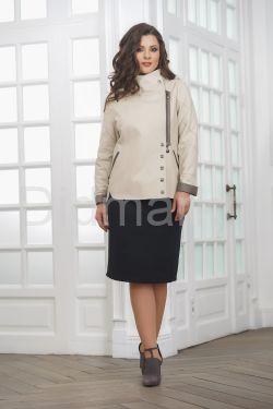 Весенняя удлиненная женская куртка косуха весна- 2019