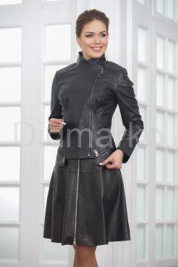 Кожаная куртка косуха больших размеров