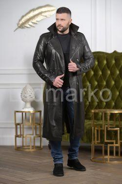 Мужской кожаный плащ осень 2019