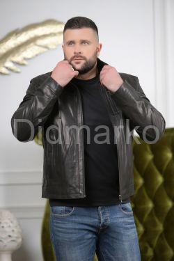 Кожаная куртка черного цвета мужская
