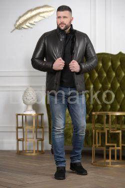 Мужская дубленка на пуговицах