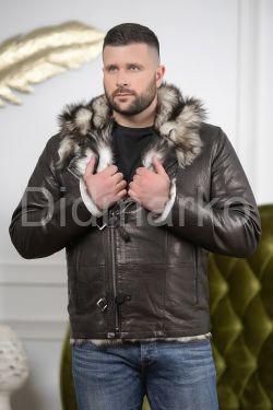 Мужская дубленка с мехом тоскана