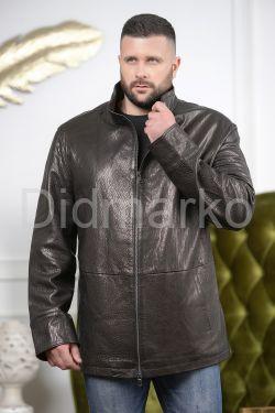 Классическая мужская кожаная куртка больших размеров