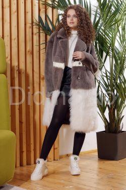 Итальянское пальто из овчины и ламы PUNTO