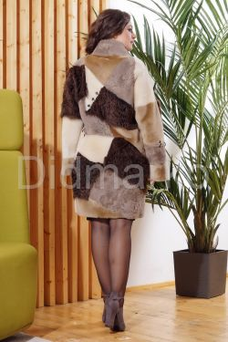 Стильное двустороннее пальто в стиле Пэчворк