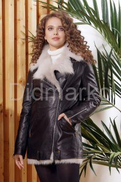Молодежная зимняя кожаная куртка Хит 2019-2020