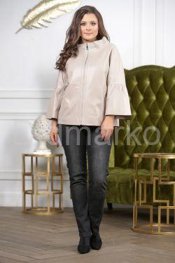 Бежевая кожаная куртка для женщин 20