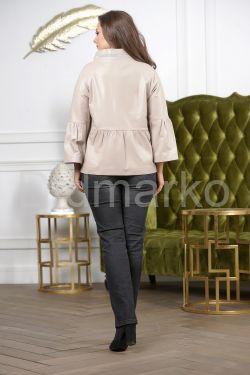 Бежевая кожаная куртка для женщин 2021