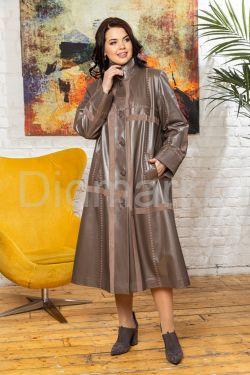 Комбинированный кожаный плащ больших размеров BERFIN120