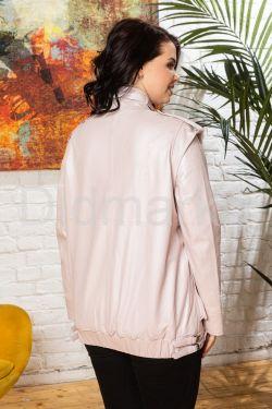 Женская кожаная куртка - трансформер