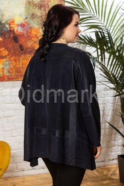 Комбинированная кожаная куртка свободного кроя IREN