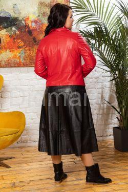 Кожаная куртка - косуха с двумя молниями