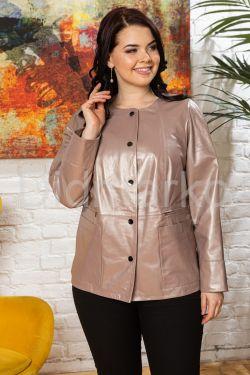 Удлиненная кожаная куртка Шанель бежевого цвета