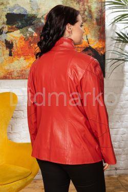Женская кожаная куртка на весну