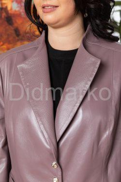 Короткая кожаная куртка больших размеров JUVE