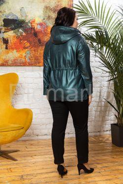Изумрудная кожаная куртка