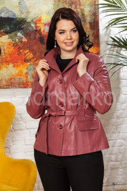 Женский кожаный пиджак из натуральной кожи