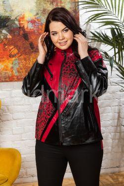 Яркая кожаная куртка Весна 2021