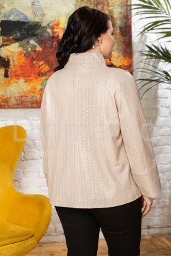 Нежная кожаная куртка с перфорированными вставками BURCU