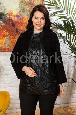 Комбинированная куртка из замши