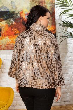 Кожаная куртка в стиле FENDI