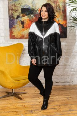 Женская кожаная куртка удлиненная