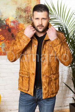 Мужской кожаный пиджак Весна 2020