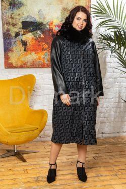 Комбинированное пальто с принтом FENDI